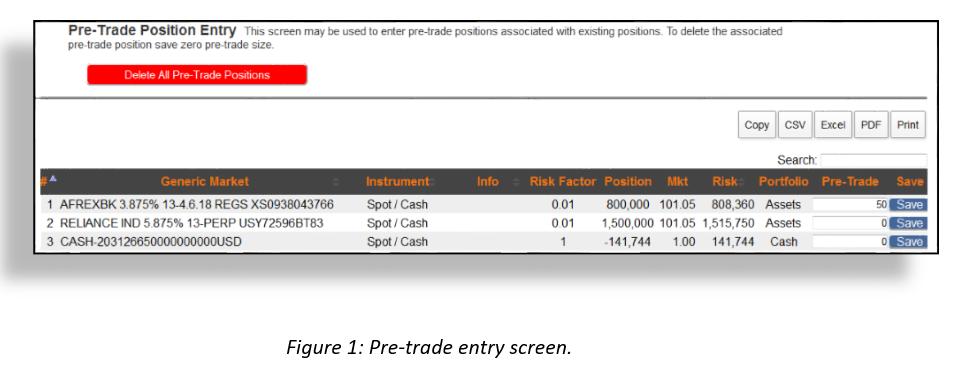 Pre trade 1